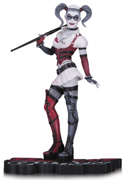 DC Collectibles - Red, White & Black: Harley Quinn (Arkham Asylum) 18cm