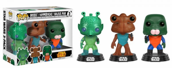 Funko POP! Star Wars: Greedo, Hammerhead, Walrus Man