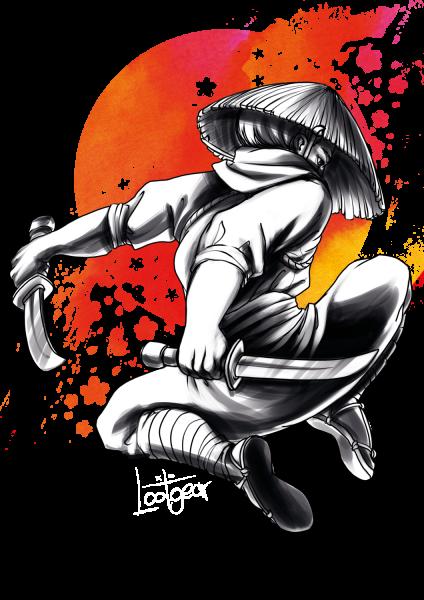 Lootgear - Sakura Worlds: Ninja T-Shirt