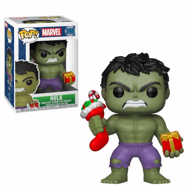Funko POP! Marvel Holiday: Hulk w/Stocking & Plush
