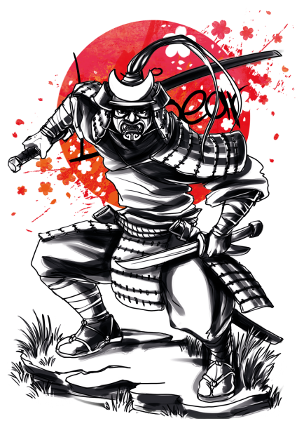 Lootgear - Sakura Worlds: Samurai Sketch T-Shirt