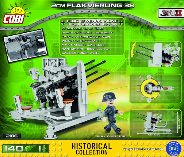 Cobi - WW II Historical Collection: Flakvierling 38