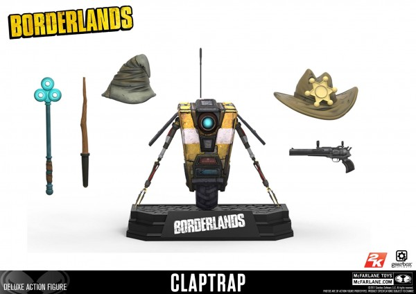 McFarlane Color Tops - Borderlands: Claptrap Deluxe Action Figure (12 cm)
