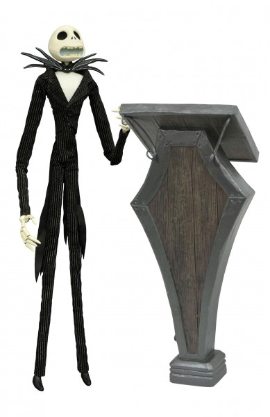 Diamond Select Disney - Nightmare before Christmas Puppe Cauldron Jack Deluxe Coffin Doll (36cm)