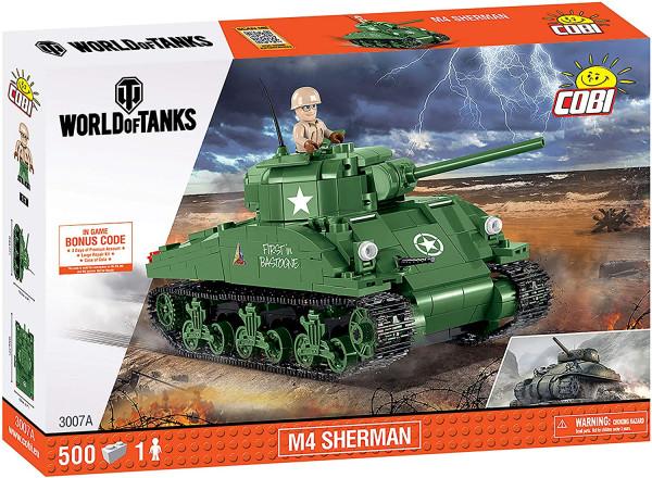 COBI - World of Tanks: M4 Sherman 500 Teile Bausatz