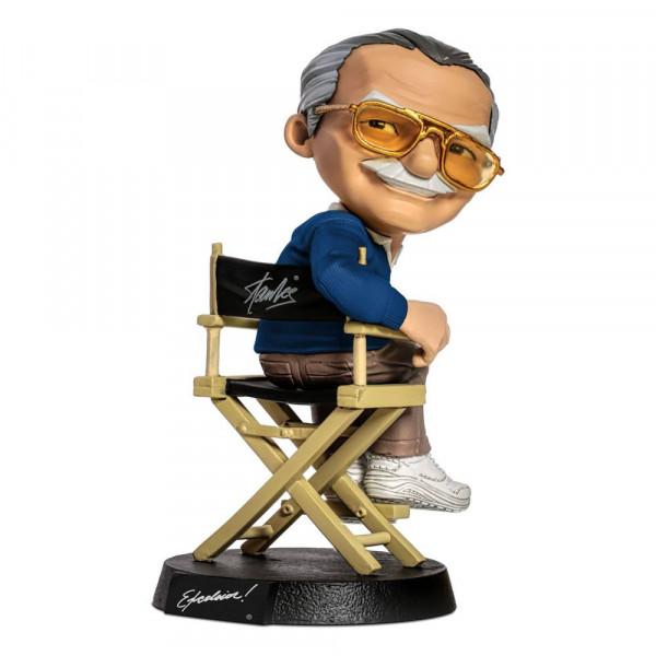 Iron Studios - Stan Lee Mini Co. PVC Figur: Stan Lee Blue Shirt