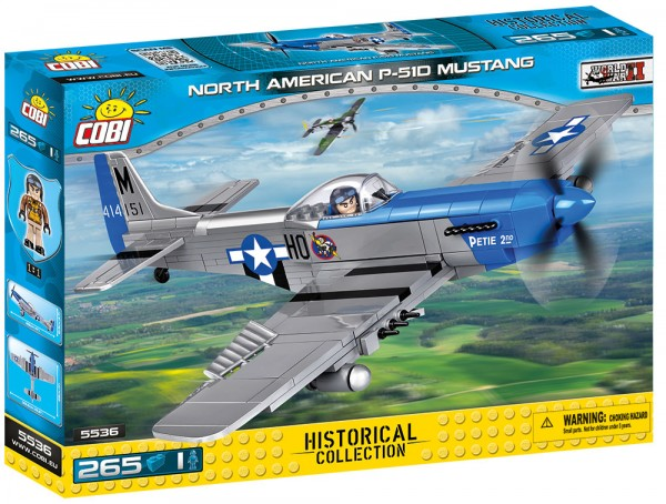 Cobi - 265 Teile SMALL ARMY 5536 NORTH AMERICAN P-51D MUSTANG