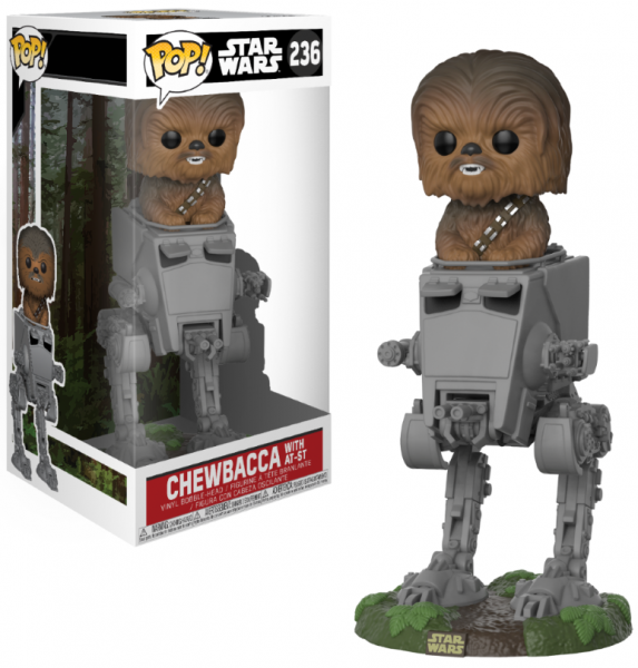 Funko POP! Deluxe Star Wars - Chewbacca in AT-ST