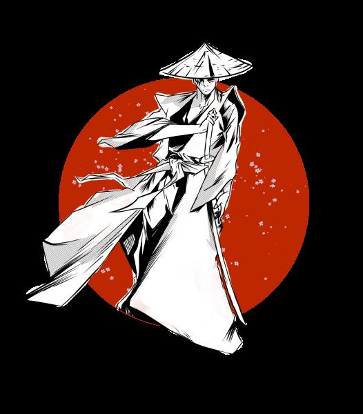 Lootgear - Sakura Worlds: Lone Samurai T-Shirt