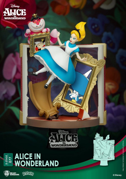 BKT - Disney Story Book Series: Alice in Wonderland Diorama New Version