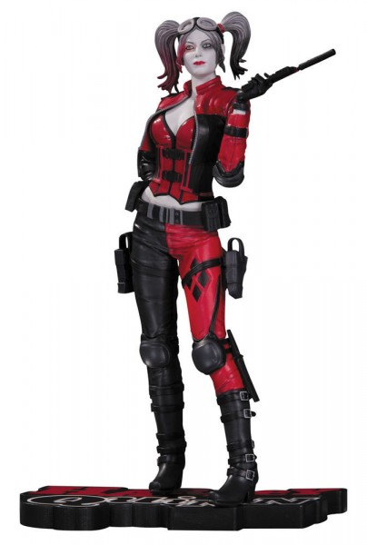DC Collectibles - DC Comics Red, White & Black Statue Harley Quinn (Injustice 2) 20 cm