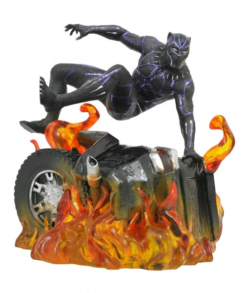Diamond Select - Black Panther Marvel Movie Gallery PVC Statue Black Panther Version 2 (23cm)