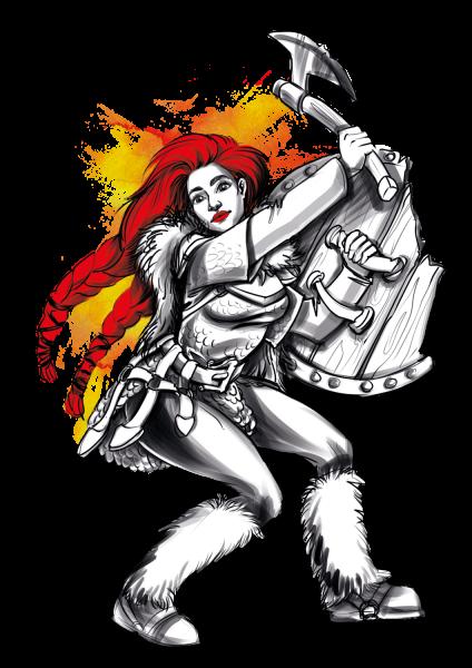 Lootgear - Cruel Worlds: Shield Maiden T-Shirt