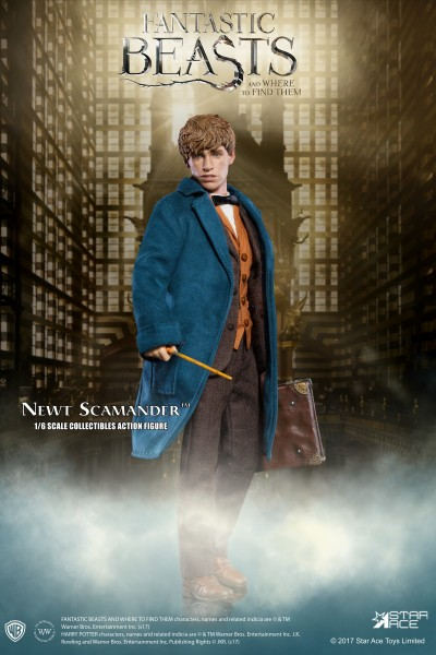 Star Ace Toys - Harry Potter: Newt Scamander - Phantastische Tierwesen Sixth Scale 30 cm