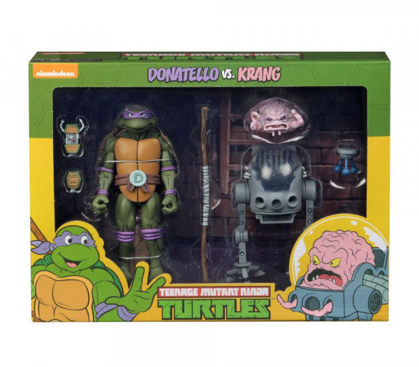 NECA - TMNT: Donatello vs Krang in Bubble Walker 2er-Pack