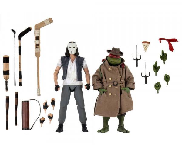 NECA - TMNT: Actionfiguren 2er-Pack Casey Jones & Raphael in Disguise