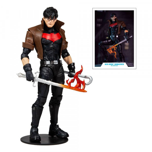 McFarlane - The New 52 DC Multiverse Actionfigur: Red Hood Unmasked (Gold Label)