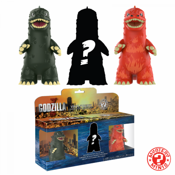 Funko Mystery Minis: Godzilla 3er-Pack