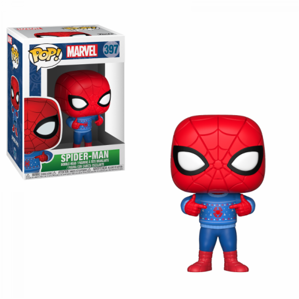 Funko POP! Marvel Holiday: Spider-Man w/Ugly Sweater