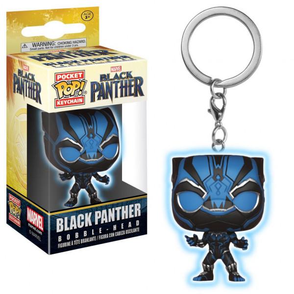 Funko POP! Keychain - Black Panther: Black Panther (GITD)