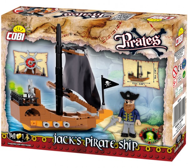 Cobi - 140 Teile PIRATES 6019 PIRATE DINGHY
