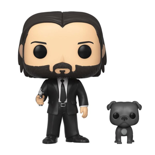 Funko POP! Movies - John Wick: John Wick in Black Suit w/Dog