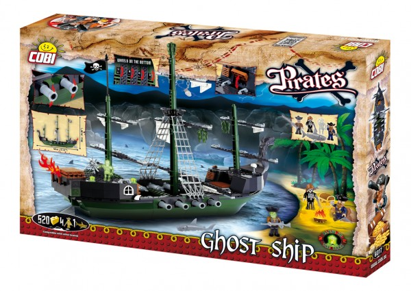 Cobi - 520 Teile PIRATES 6017 GHOST SHIP