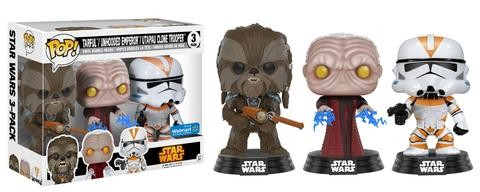 Funko POP! Star Wars: Tarfful, Unhooded Emperor, Utapau Clone Trooper
