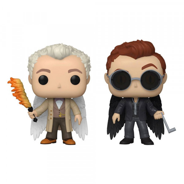 Funko POP! TV - Good Omens: 2er-Pack Specialty Series Aziraphael & Crowley w/Wings