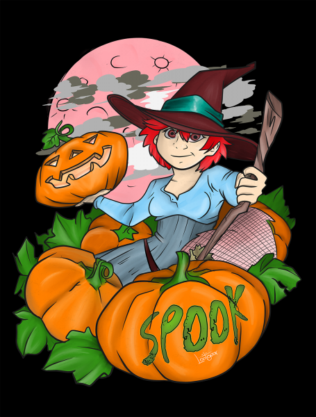 Lootgear - Spook: Pumpkin Witch T-Shirt