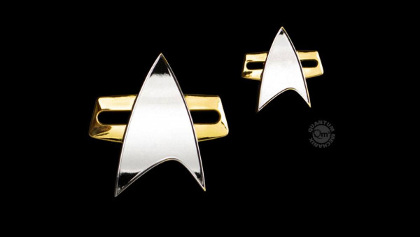 QMX - Star Trek: Voyager: Ansteck-Pin & Ansteck-Button Set Communicator