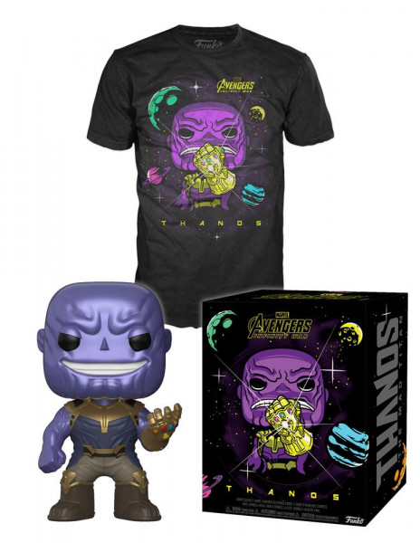 Funko - Avengers Infinity War POP! & Tee Box Thanos
