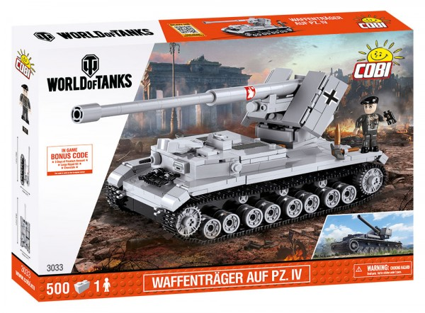 Cobi - 500 Teile SMALL ARMY 3033 WOT WAFFENTRAGER AUFPZ