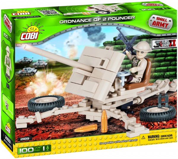 Cobi - 100 Teile SMALL ARMY 2189 ORDNANCE QF 2 POUNDER