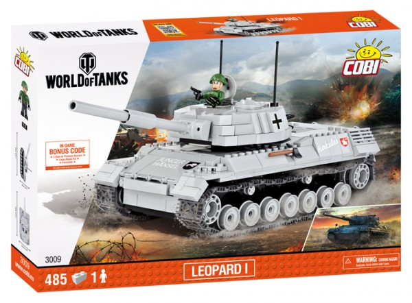 Cobi - 485 Teile SMALL ARMY 3009 WOT LEOPARD 1