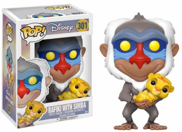 Funko POP! Disney - König der Löwen: Rafiki mit Baby-Simba