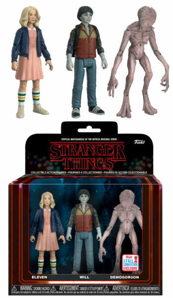 Funko NYCC Action Figures - Stranger Things: Eleven, Upside Down Will & Demogorgon 3-pack