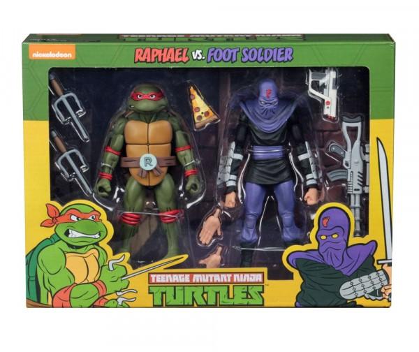 NECA - Teenage Mutant Ninja Turtles Actionfiguren Doppelpack Raphael vs Foot Soldier 18 cm