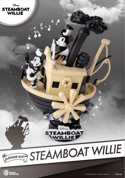 Beast Kingdom Toys - Steamboat Willie Mickey & Minnie Diorama